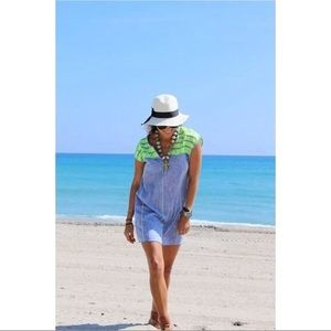 J Crew Neon Embroidered Swimsuit Coverup